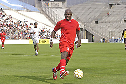 File photo : Liberia's Former FIFA World Player of the Year George Weah plays his farewell match at the Velodrome stadium in Marseille on June 11, 2005. Weah is moving from football to politics, planning to contest the presidential election due in Liberia by October. Former football star George Weah has been elected as Liberia's president. Mr Weah is well ahead of opponent Joseph Boakai with more than 60% of the vote. Photo by Gerald Holubowicz/ABACA.