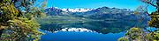 Lago Meliquina, an Andes lake near Bariloche, parc nacional lanin,  Argentina