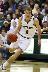 29 January 2011: Matt Schick during an NCAA basketball game between the Carthage Reds and the Illinois Wesleyan Titans at Shirk Center in Bloomington Illinois.