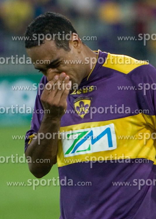 Marcos Morales Tavares of NK MAribor after  Third Round of Champions League qualifications football match between NK Maribor and FC Zurich,  on August 05, 2009, in Ljudski vrt , Maribor, Slovenia. Zurich won 3:0 and qualified to next Round. (Photo by Vid Ponikvar / Sportida)