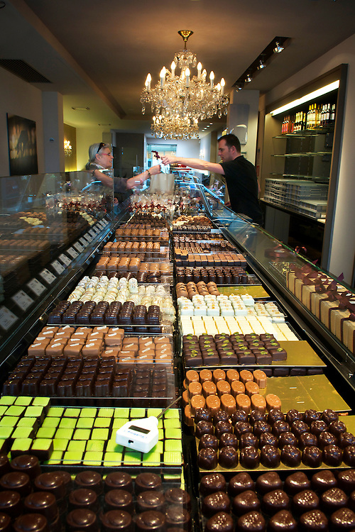 Chocolateria-Cafe Gunther Watte, Amberes.<br /> Flandes, Belgica.