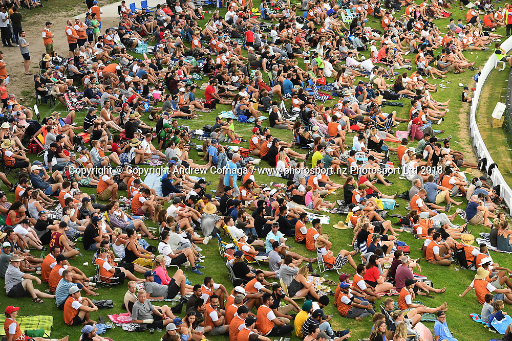 A general view of Bay Oval's fans.<br /> Pakistan tour of New Zealand. T20 Series. 3rd Twenty20 international cricket match, Bay Oval, Mt Maunganui, New Zealand. Sunday 28 January 2018. &copy; Copyright Photo: Andrew Cornaga / www.Photosport.nz