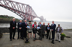 Fiona-Hyslop_North-Queensferry-Pier_24-04-2019<br /> <br /> Fiona Hyslop with councilors and tourism people<br /> <br /> (c) David Wardle | Edinburgh Elite media