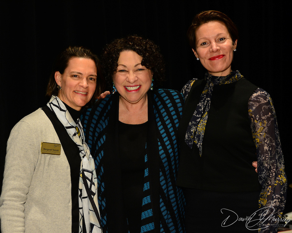 US Supreme Court Justice Sonia Sotomayor during the backstage book signing after speaking at a Writers on a New England Stage show at The Music Hall in Portsmouth, NH