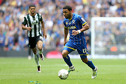 Andy Barcham of AFC Wimbledon runs with the ball - Mandatory by-line: Robbie Stephenson/JMP - 30/05/2016 - FOOTBALL - Wembley Stadium - London, England - AFC Wimbledon v Plymouth Argyle - Sky Bet League Two Play-off Final