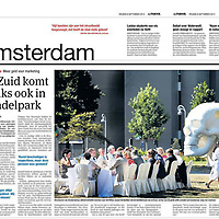 Parool 6 september 2013: ArtZuid, lunch hoteldirecteuren