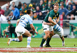 Durban. 180818. Andre Esterhuizen of South Africa during the Rugby Championship match between South Africa and Argentina at Jonsson Kings Park in Durban, South Africa. Picture Leon Lestrade. African News Agency/ANA