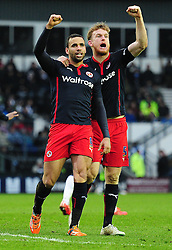 Reading's Hal Robson-Kanu celebrates his goal with Reading's Alex Pearce - Photo mandatory by-line: Alex James/JMP - Mobile: 07966 386802 - 14/02/2015 - SPORT - Football - Derby  - ipro stadium - Derby County v Reading - FA Cup - Fifth Round
