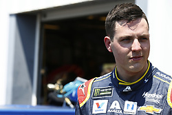 July 13, 2018 - Sparta, Kentucky, United States of America - Alex Bowman (88) hangs out in the garage during practice for the Quaker State 400 at Kentucky Speedway in Sparta, Kentucky. (Credit Image: © Chris Owens Asp Inc/ASP via ZUMA Wire)