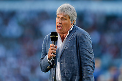 John Inverdale of the BBC speaks pitchside - Mandatory byline: Rogan Thomson/JMP - 07966 386802 - 15/08/2015 - RUGBY UNION - Twickenham Stadium - London, England - England v France - QBE Internationals 2015.
