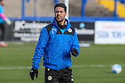 Forest Green Rovers Fabien Robert(26) warming up during the FA Trophy match between Macclesfield Town and Forest Green Rovers at Moss Rose, Macclesfield, United Kingdom on 4 February 2017. Photo by Shane Healey.