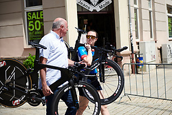 WNT Rotor Pro Cycling take bikes to be tested at Lotto Thüringen Ladies Tour 2019 - Stage 5, a 17.9 km individual time trial in Meiningen, Germany on June 1, 2019. Photo by Sean Robinson/velofocus.com