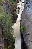 Spring runoff in Bear Creek Falls at Bear Creek Provincial Park near Kelowna, British Columbia, Canada