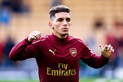Lucas Torreira of Arsenal - Mandatory by-line: Robbie Stephenson/JMP - 24/04/2019 - FOOTBALL - Molineux - Wolverhampton, England - Wolverhampton Wanderers v Arsenal - Premier League