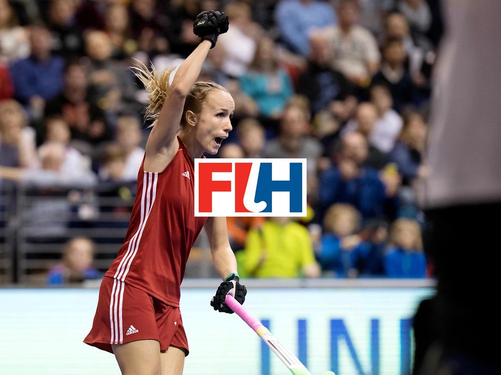 BERLIN - Indoor Hockey World Cup<br /> Bronze: Ukraine - Belarus<br /> foto: MITSKEVICH Khrystsina.<br /> WORLDSPORTPICS COPYRIGHT FRANK UIJLENBROEK