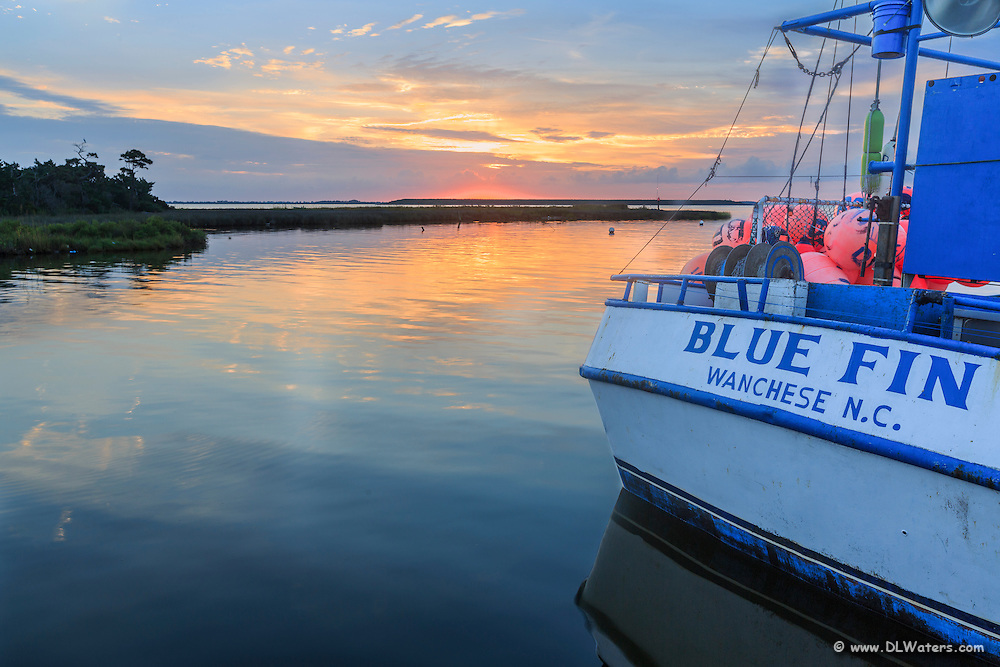 Bluefin fishing trawler that sudden rise in Wancheese Harbor, Outer Banks.