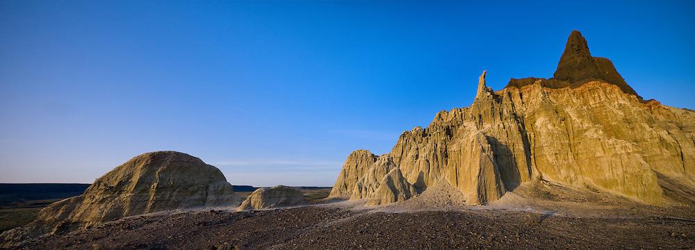Hoodoos rise from the Owyhee Desert floor in an area of the Lower Owyhee River known as Chalk Basin.