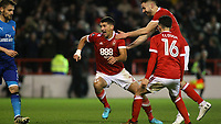 Eric Lichaj cant believe it as he puts another goal past David Ospina  during The Emirates FA Cup Third Round match between Nottingham Forest and Arsenal at City Ground on January 7, 2018 in Nottingham, England..