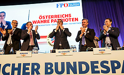 04.03.2017, Messe, Klagenfurt, AUT, FPÖ, 32. Ordentlicher Bundesparteitag, im Bild v.l.n.r. Harald Stefan, Mario Kunasek, Bundesparteiobmann Heinz Christian Strache, Norbert Hofer und Manfred Haimbuchner // at the 32nd Ordinary Party Convention of the Freiheitliche Partei Oesterreich (FPÖ) in Klagenfurt, Austria on 2017/03/04. EXPA Pictures © 2017, PhotoCredit: EXPA/ Wolgang Jannach