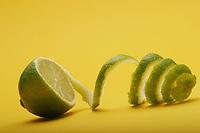 Close up of lemon - studio shot
