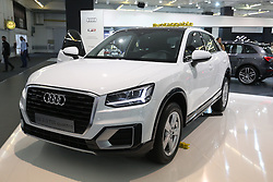 05.04.2016, Zagreb, CRO, Zagreb Auto Show, im Bild Audi Q2 // Press day at Zagreb fair before official opening of Zagreb Auto Show at Zagreb, Croatia on 2016/04/05. EXPA Pictures &copy; 2016, PhotoCredit: EXPA/ Pixsell/ Dalibor Urukalovic<br /> <br /> *****ATTENTION - for AUT, SLO, SUI, SWE, ITA, FRA only*****
