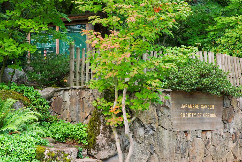 The Japanese Garden in Washington Park, Portland, Oregon