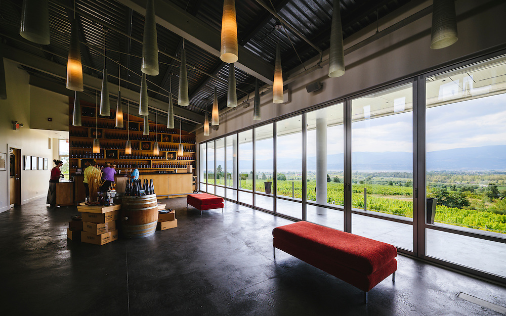 Tasting room, Tantalus Vineyards, Kelowna BC