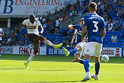 Anfernee Dijksteel (2) of Middlesbrough shoots at goal during the EFL Sky Bet Championship match between Cardiff City and Middlesbrough at the Cardiff City Stadium, Cardiff, Wales on 21 September 2019.