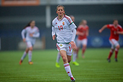 MERTHYR, WALES - Tuesday, February 14, 2017: Hungary's Réka Csolti in action against Wales during a Women's Under-17's International Friendly match at Penydarren Park. (Pic by Laura Malkin/Propaganda)