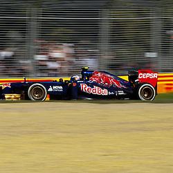 F1 Australian Grand Prix 15 March 2013 Practice Session 2.Practice Session 2. Daniel Ricciardo Scuderia Toro Rosso Turn 7..(c) MILOS LEKOVIC | StockPix.eu