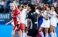 Londen - Een boze Jill Boon (Bel) na tijdens de cross over wedstrijd Belgie-Spanje (0-0)  bij het WK Hockey 2018 in Londen . Spanje wint na shoot outs.  COPYRIGHT KOEN SUYK