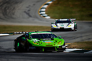 October 1, 2016: IMSA Petit Le Mans, #16 Richard Antinucci, Spencer Pumpelly, Corey Lewis, Change Racing, Lamborghini Huracán GT3, #27 Cedric Sbirrazzuoli, Luca Persiani, Paolo Ruberti, Dream Racing, Lamborghini Huracán GT3