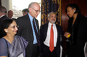 Lady Parekh, Lord Norton of Louth, Professor Lord Parekh and Baroness Scotland. . Political Studies Association Awards 2004. Institute of Directors, Pall Mall. London SW1. 30 November 2004.  ONE TIME USE ONLY - DO NOT ARCHIVE  © Copyright Photograph by Dafydd Jones 66 Stockwell Park Rd. London SW9 0DA Tel 020 7733 0108 www.dafjones.com