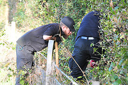 © Licensed to London News Pictures 24/10/2018<br /> Hartley,UK.<br /> Kent police searching woodland near Hartley village for missing mother Sarah Wellgreen. Sarah has been missing for over two weeks and was last seen on the evening of October 9th.<br /> Photo credit: Grant Falvey/LNP