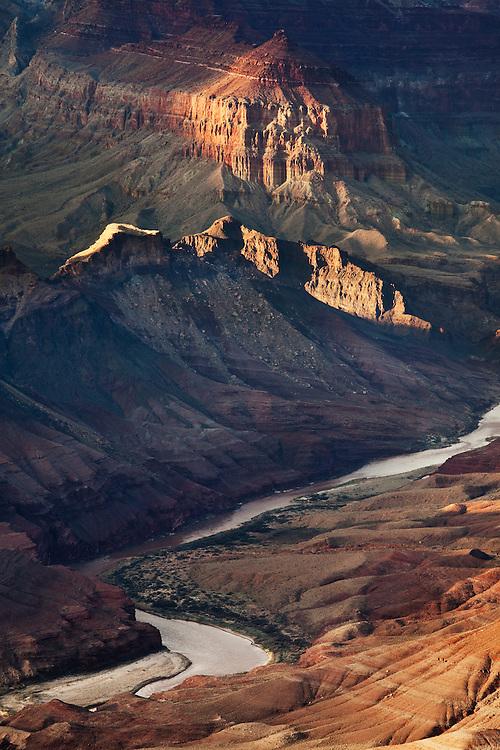 The Colorado River cuts through Grand Canyon National Park.