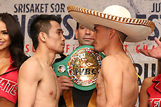 February 23, 2018: Srisaket Sor Rungvisai vs Juan Francisco Estrada Weigh-In