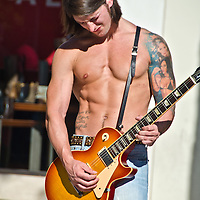 Nicholas Toppin, 27, who hails from Ireland, performs at the Third Street Promenade on Thursday, January 17, 2013..