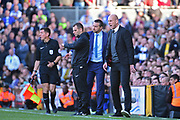 Reading first team manager Jaap Stam screams at his team as time passes during the EFL Sky Bet Championship play off first leg match between Fulham and Reading at Craven Cottage, London, England on 13 May 2017. Photo by Jon Bromley.