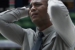 Stressed businessman at stock exchange (Credit Image: © Image Source/Jose Pelaez/Image Source/ZUMAPRESS.com)