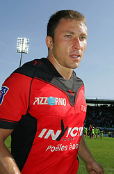 Toulon's Pierre Mignoni leaves the field after the French Top 14 Rugby Match, Montauban vs Toulon on Sunday to cap a memorable week for the south-western club at the Sapiac stadium in Montauban, France on September 6, 2009