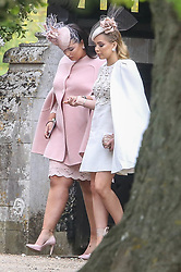 James and Pippa Matthews leave St Marks church Englefield surrounded by page boys and girls.<br /><br />20 May 2017.<br /><br />Please byline: Vantagenews.com