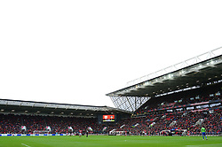 A crowd of 24,435 in attendance at Ashton Gate for the game between Bristol City v Leeds United - Mandatory by-line: Dougie Allward/JMP - 21/10/2017 - FOOTBALL - Ashton Gate Stadium - Bristol, England - Bristol City v Leeds United - Sky Bet Championship