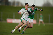 SFC at Pairc Tailteann, Navan, 16th April 2016<br /> St Patricks vs Donaghmore/Ashbourne<br /> Neil O`Flaherty (St Patricks) & Thomas McGovern (Donaghmore/Ashbourne) <br /> Photo: David Mullen /www.cyberimages.net / 2016
