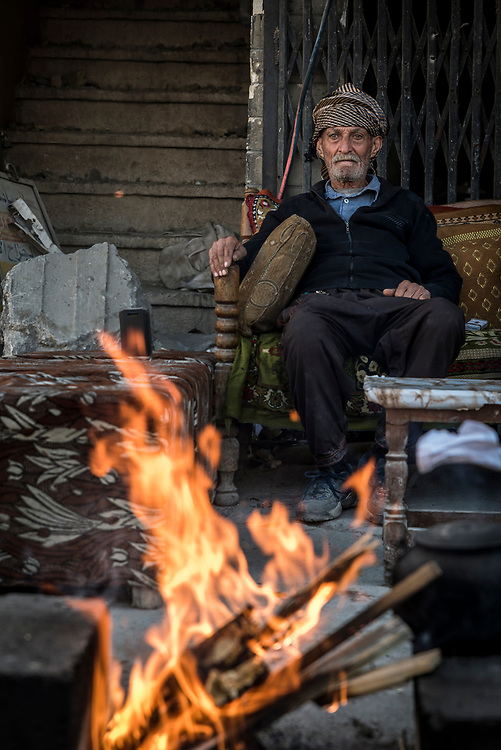 "Kasim has spent all of his life in the Old City of Mosul, and refused to leave when ISIS militants took control of the city. ""I cannot leave this area,"" he said. ""I would die. It's like a fish leaving the water for me."""
