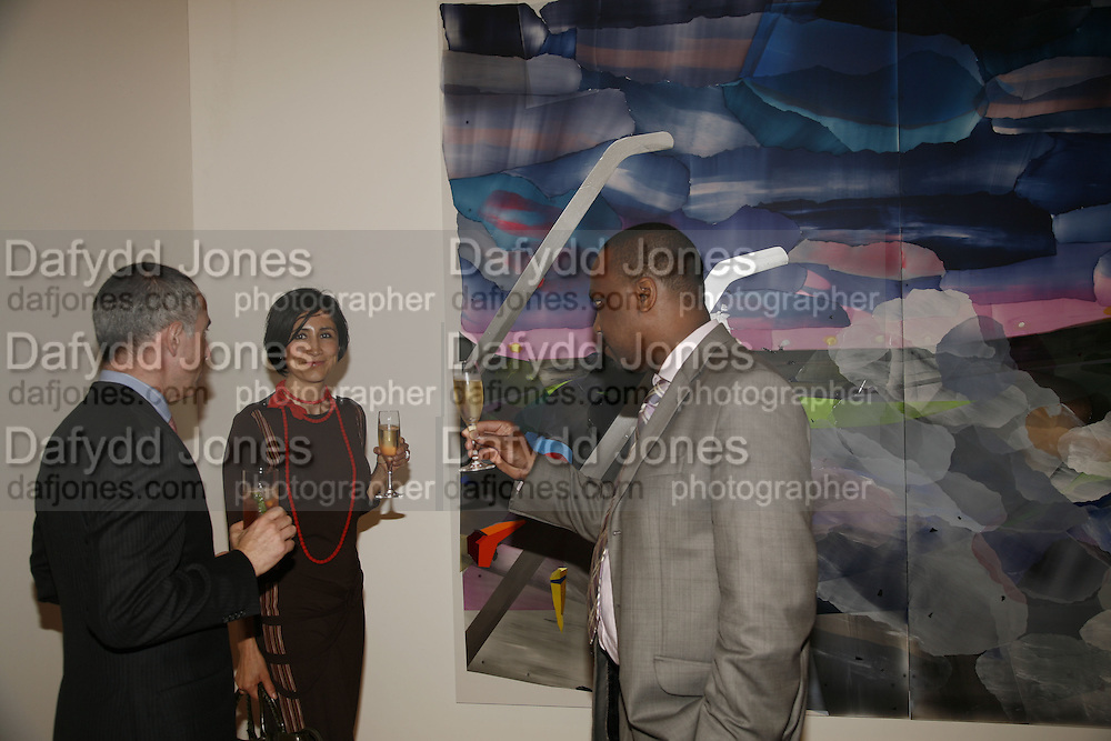 Manuel Velazquez de la Cadena, Lydia Rouse and George Thompson. USA Today. Saatchi Gallery and The Royal academy of Arts. Piccadilly. London. 5 October 2006. -DO NOT ARCHIVE-© Copyright Photograph by Dafydd Jones 66 Stockwell Park Rd. London SW9 0DA Tel 020 7733 0108 www.dafjones.com