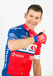 Kristjan Fajt during photo session of Continental cycling team KK Adria Mobil for season 2016, on February 15, 2016 in Novo mesto, Slovenia. Photo by Vid Ponikvar / Sportida