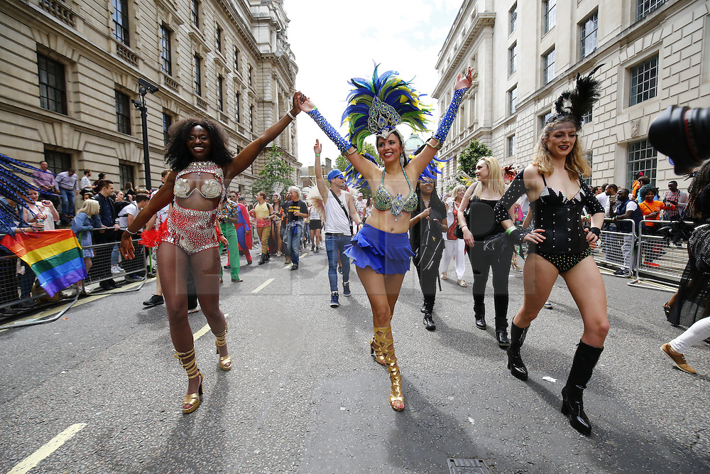 © Licensed to London News Pictures. 25/06/2016. London, UK. People marching at Pride march in central London on Saturday, 25 June 2016. Photo credit: Tolga Akmen/LNP