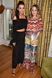 Left to right, Amy Jackson and Rosie Fortescue at the Rosie Fortescue Jewellery Launch, Brown's Hotel London England. 10 May 2017.<br /> Photo by Dominic O'Neill/SilverHub 0203 174 1069 sales@silverhubmedia.com