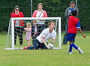 Prince Harry Tackles Child At Football