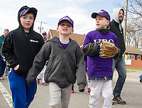 Laconia Little League parade and opening day ceremony at Colby Field.  Karen Bobotas for the Laconia Daily Sun